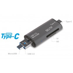 POWERTECH Card Reader Type C 5 in 1