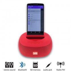 Bluetooth Superbass V8 Red